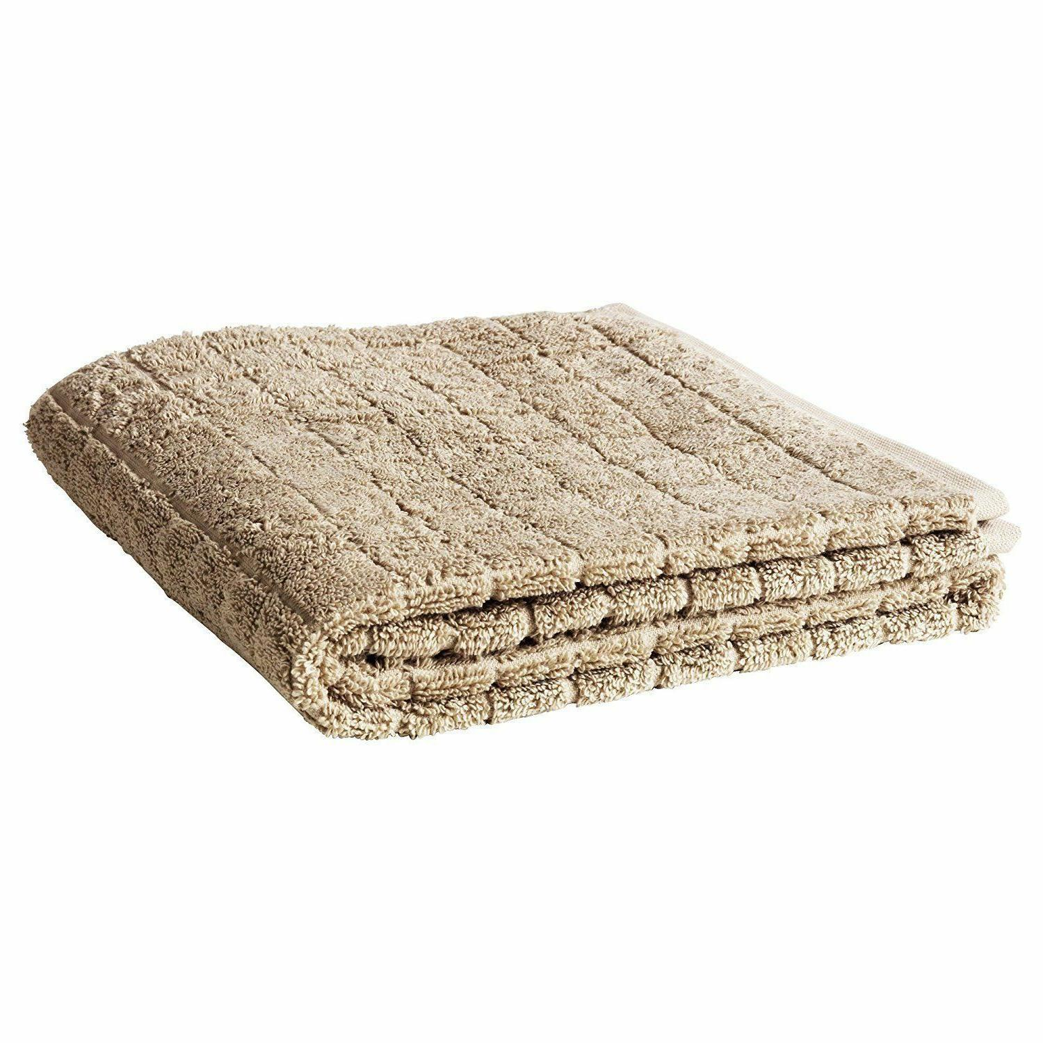 IKEA AFJARDEN BEIGE NATURAL THICK BATH HAND FACE TOWELS 100%