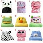 Animal Cartoon Baby Kids Hooded Blanket Bathrobe Toddler Boy
