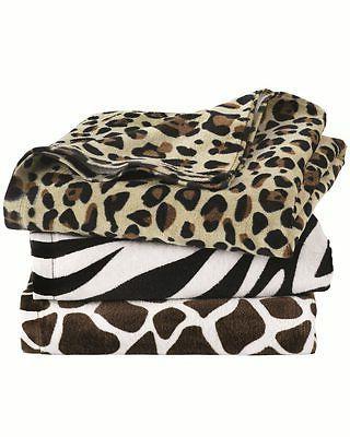 animal print velour beach towels 30 x