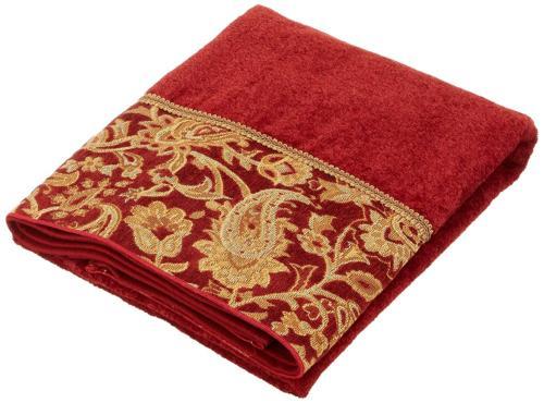 arabesque embellished 4 piece decorative towel set