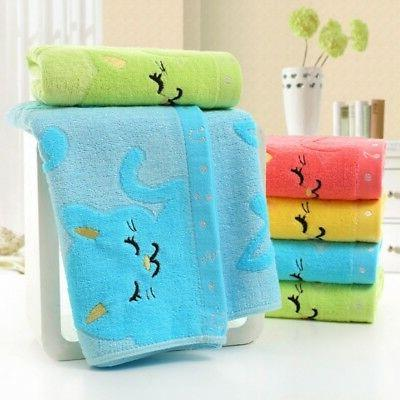 Baby Kids Cotton Soft Bath Towels Children Washcloth Face Ha