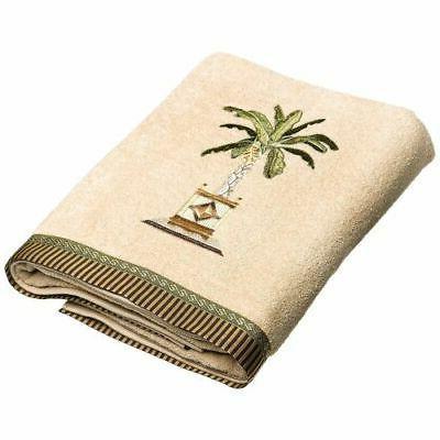 banana palm bath towel