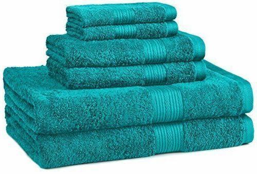 Bath Towel 6 Piece Set Bathroom Towels 100% Egyptian Cotton
