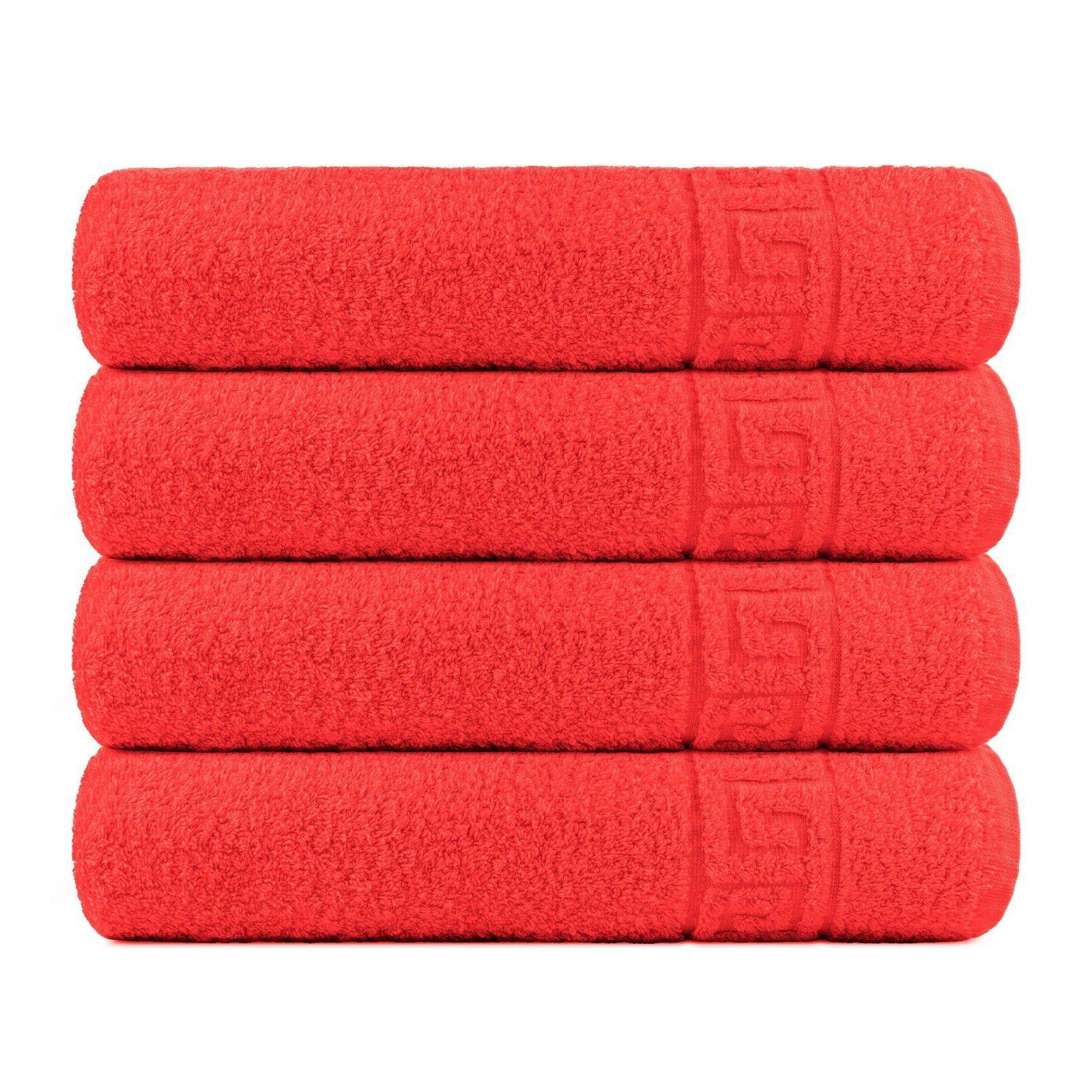 Bath Towel Cotton Set 4 Pcs Towels 28x56 Inch Absorbent