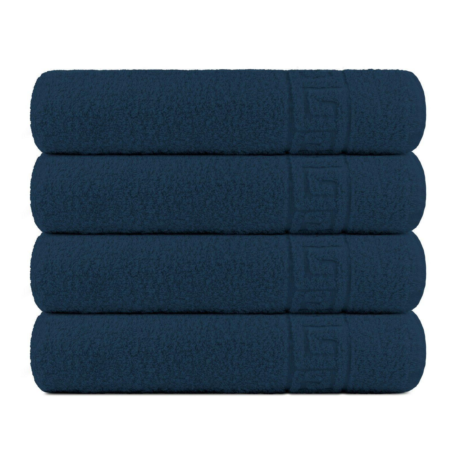 Bath 4 Towels Absorbent Contex
