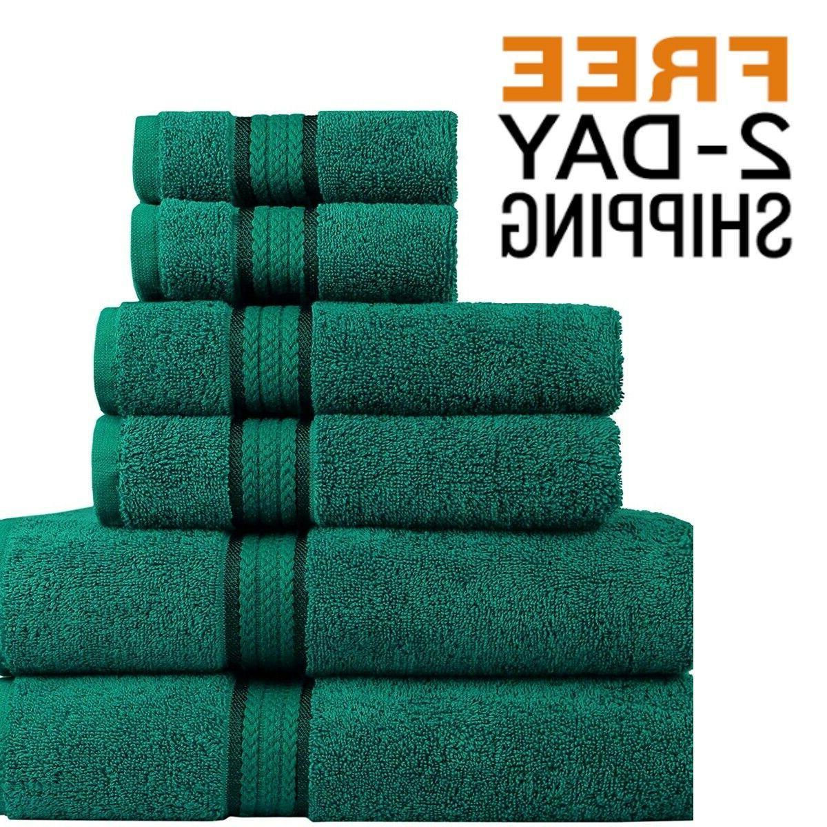 Bath Towel Set Bathroom Towels Large Kit High Absorbent Ultr