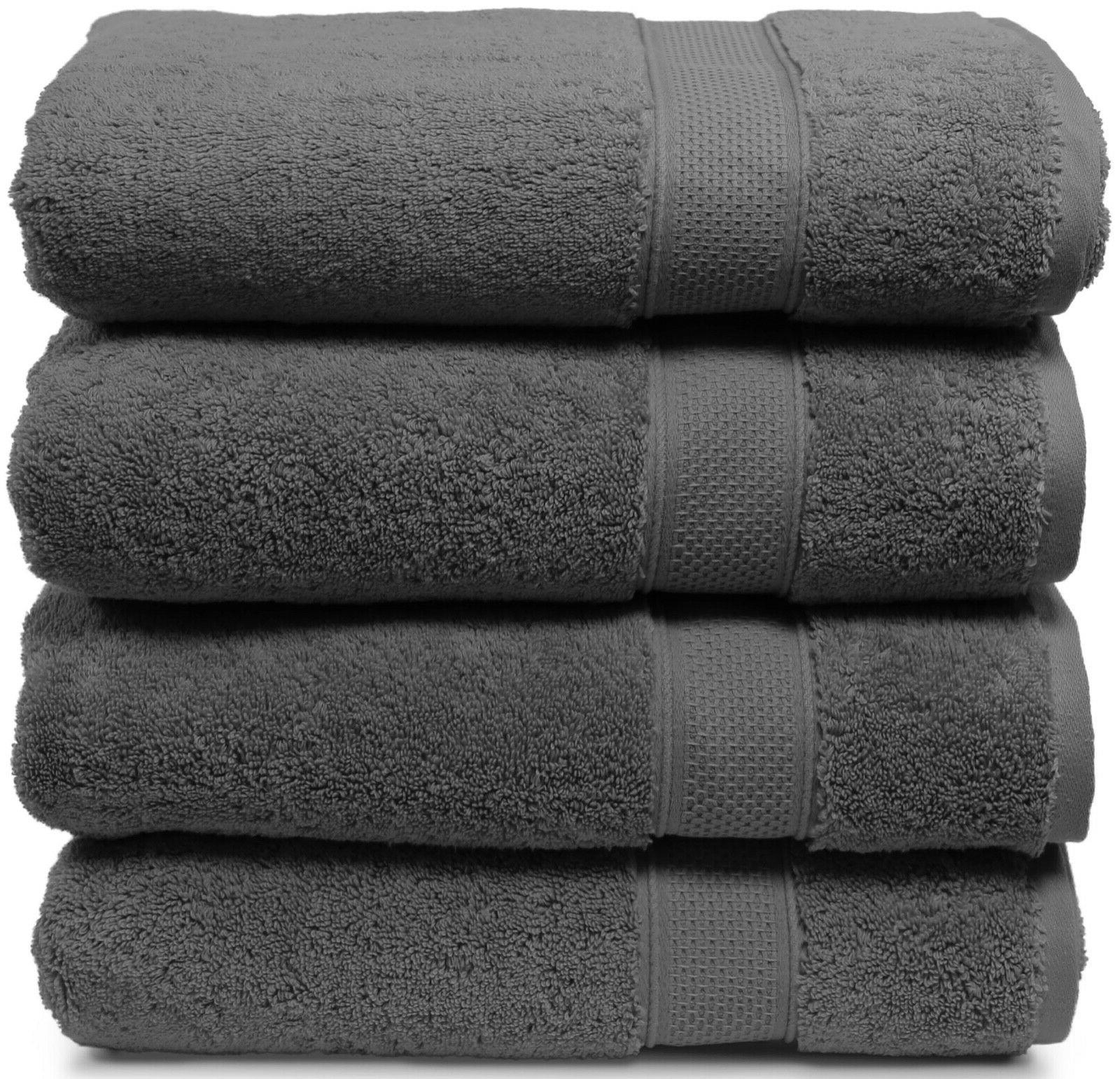 Bath Cotton 4 Extra Large Plush Absorbent