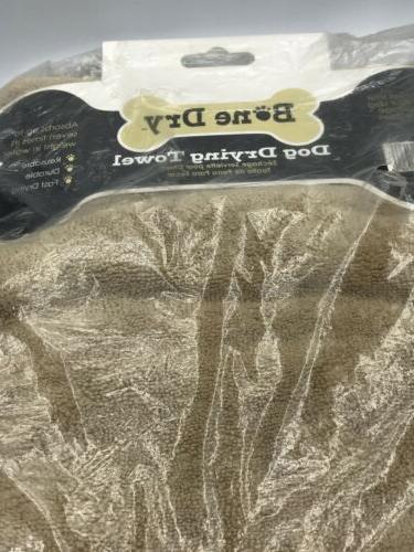 Bone Dry DII Microfiber Dog Towel Embroidered Paw Print