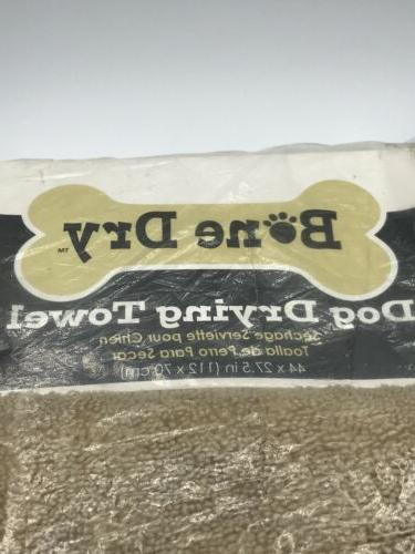 Bone DII Microfiber Dog Bath Embroidered