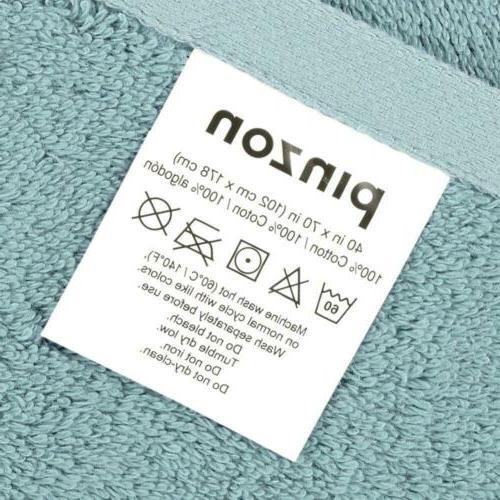 Pinzon by Amazon Collection Organic Towel Spa Blue