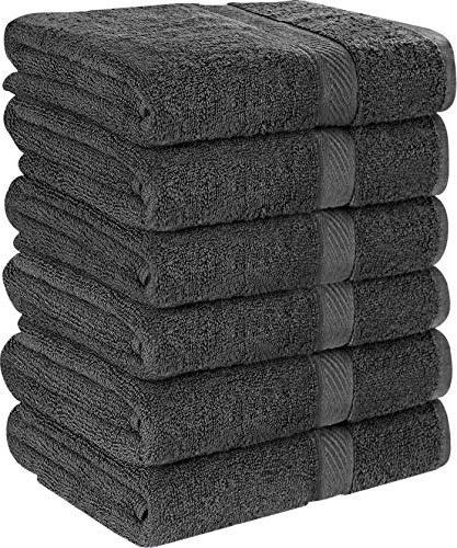 cotton gray bath set lightweight