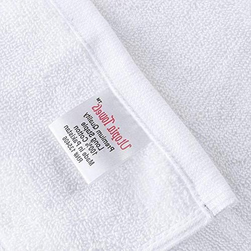 Utopia Towels White Bath Lightweight Quick Towels
