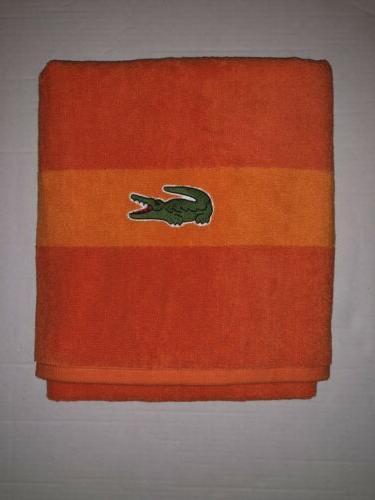 cotton signature crocodile logo bright surf orange