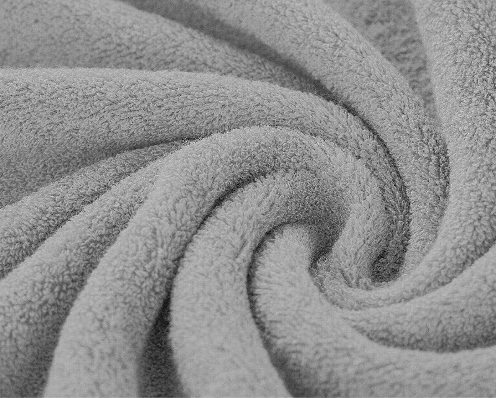 """Luxury Silver Towels Packs Cotton 27""""x55"""" 500 GSM Soft"""