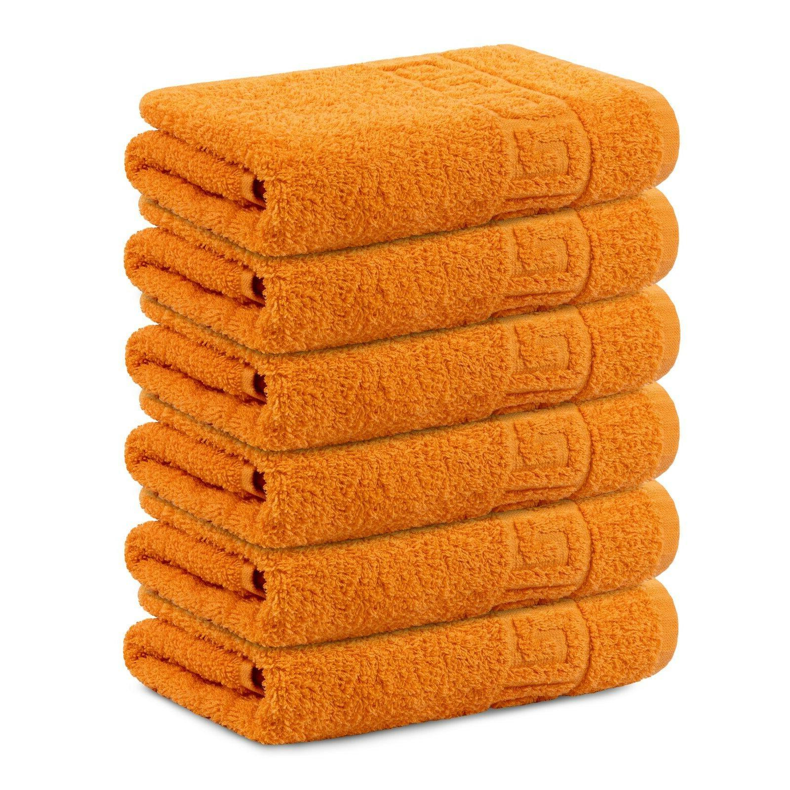 Hand Towel Large 16* 28 Inch Cotton Absorbent 6pc Pack By Co
