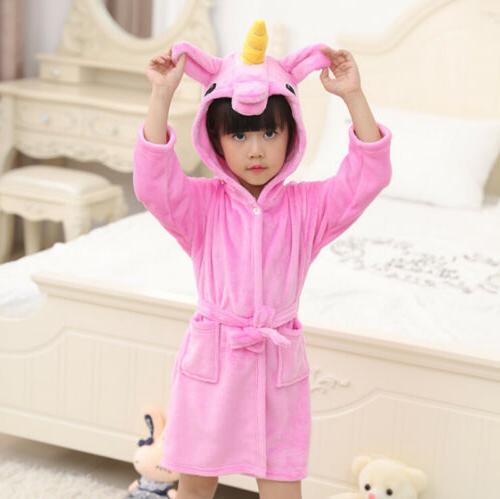 Kids Baby Bath Robe Towel Sleepwear