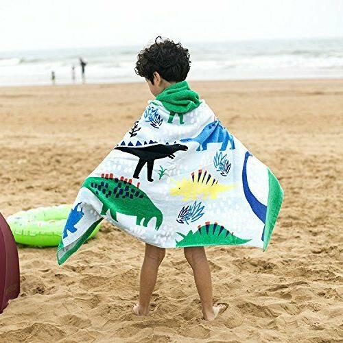 Bavilk Kids Hooded Poncho Bath Towel Girls /