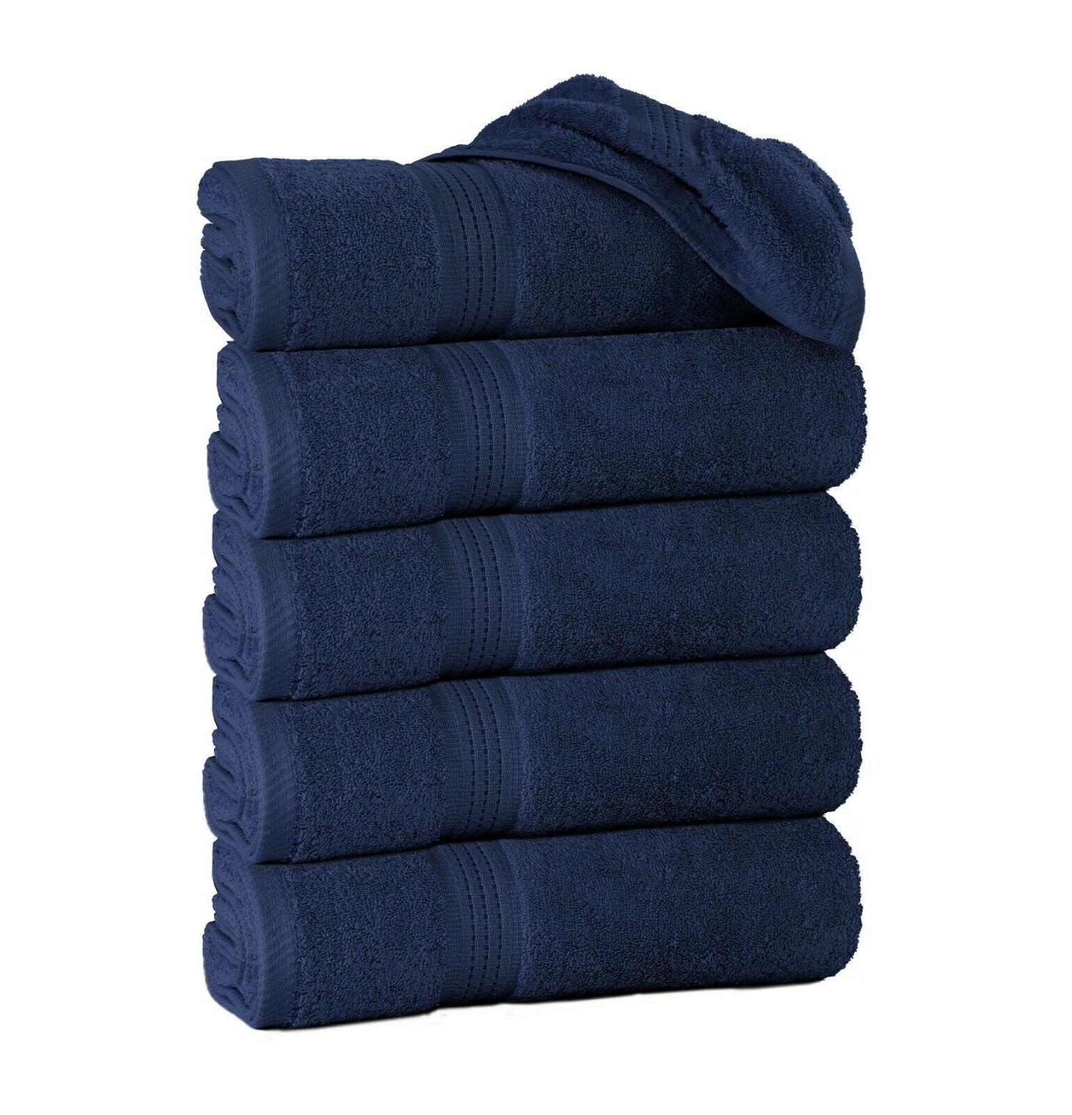"Large Towel Packs Sets 100% Cotton 27""x55"" 500 Absorbent"