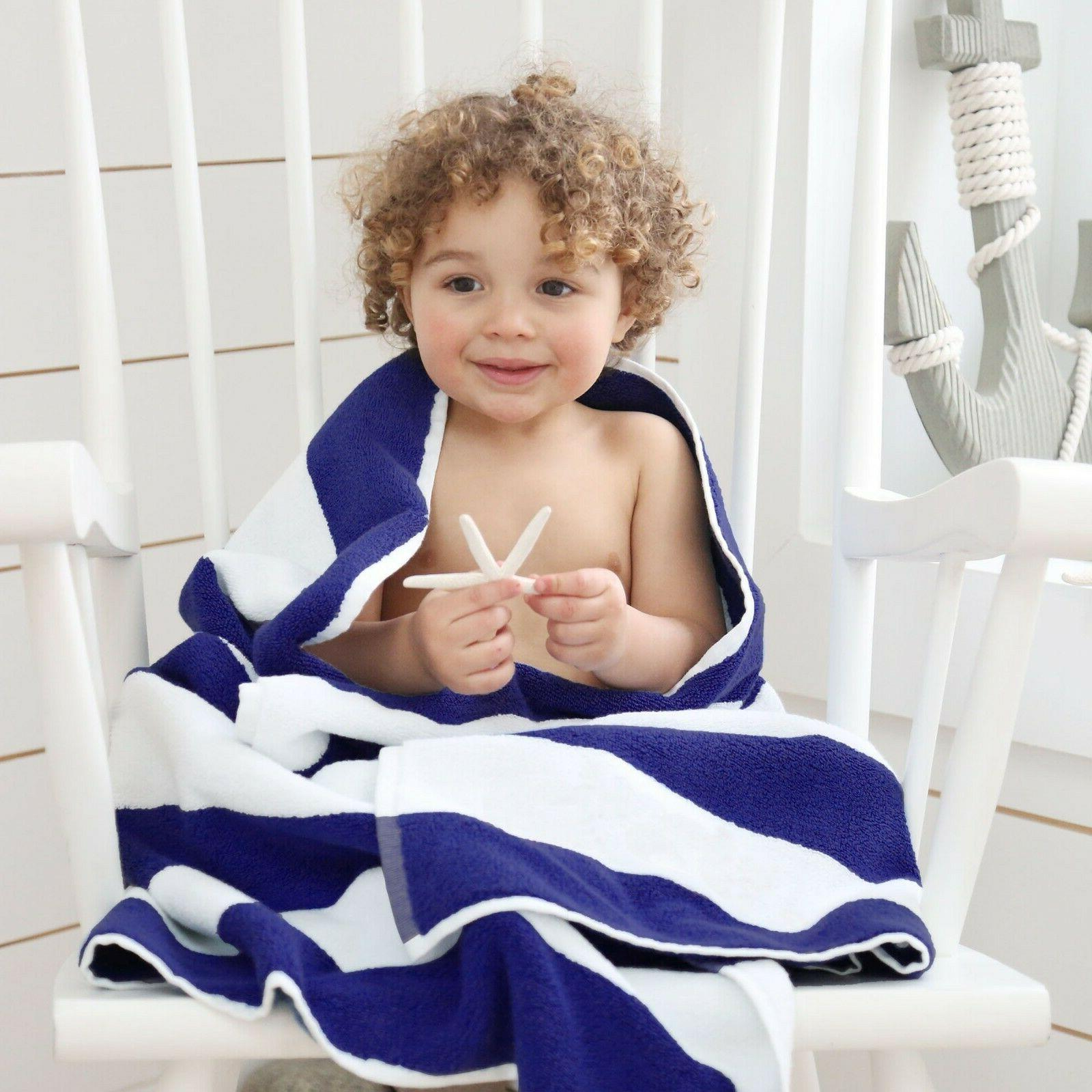 Large Beach Towels Disposable Pack of 10 Set Pool Cabana 100
