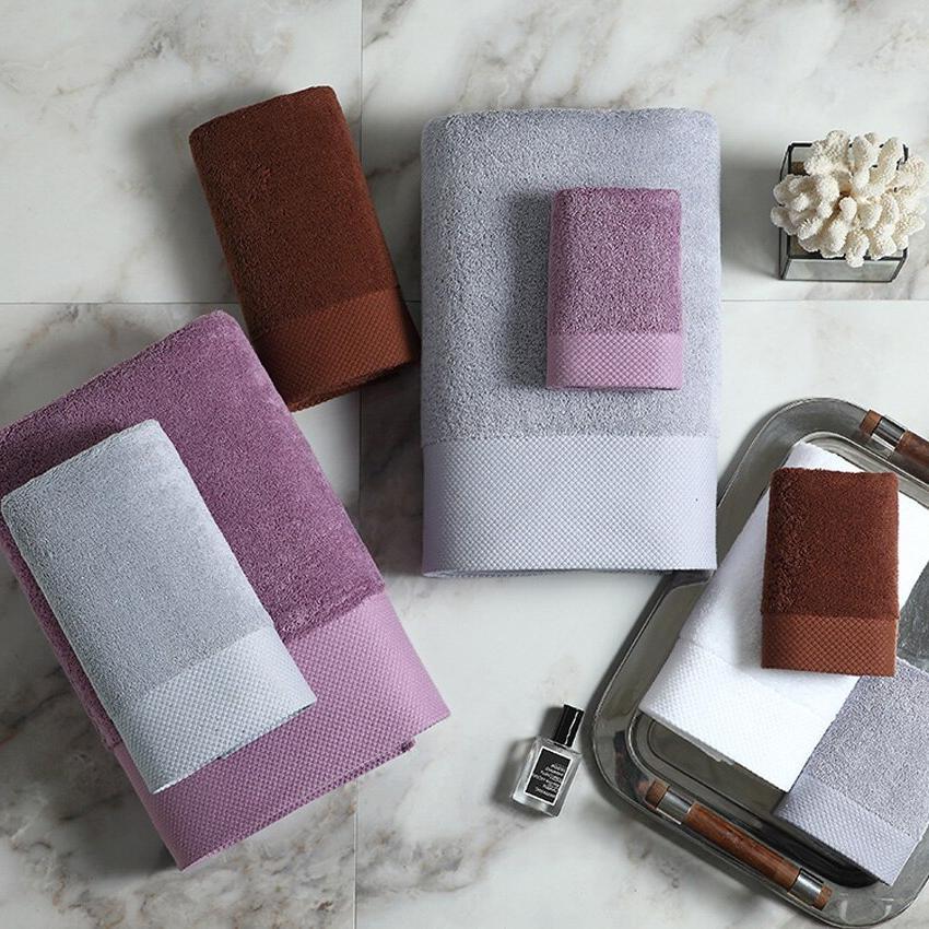 Large Modern Color Cotton <font><b>Bath</b></font> <font><b>Towel</b></font> Hand Face Shower <font><b>Towels</b></font> Adults Kids Home de ducha