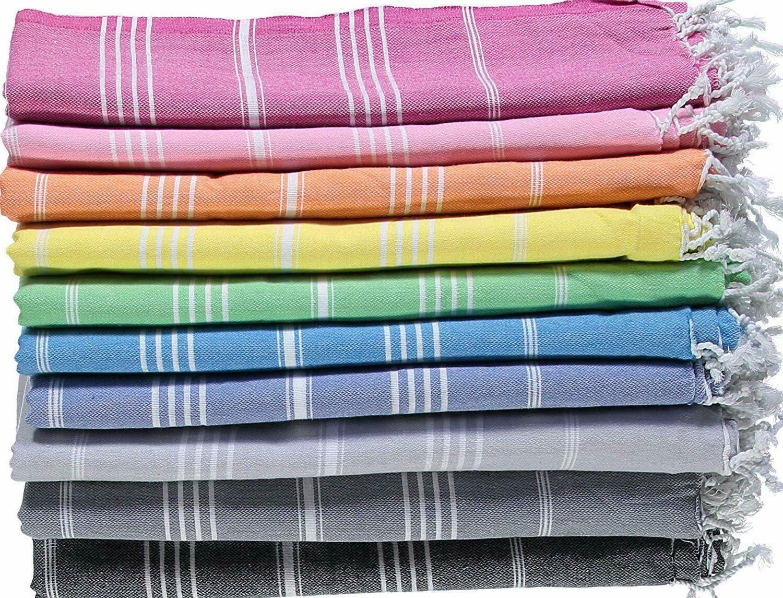 Large Turkish Beach Towel, Pool Towel with Cabana Stripe,100