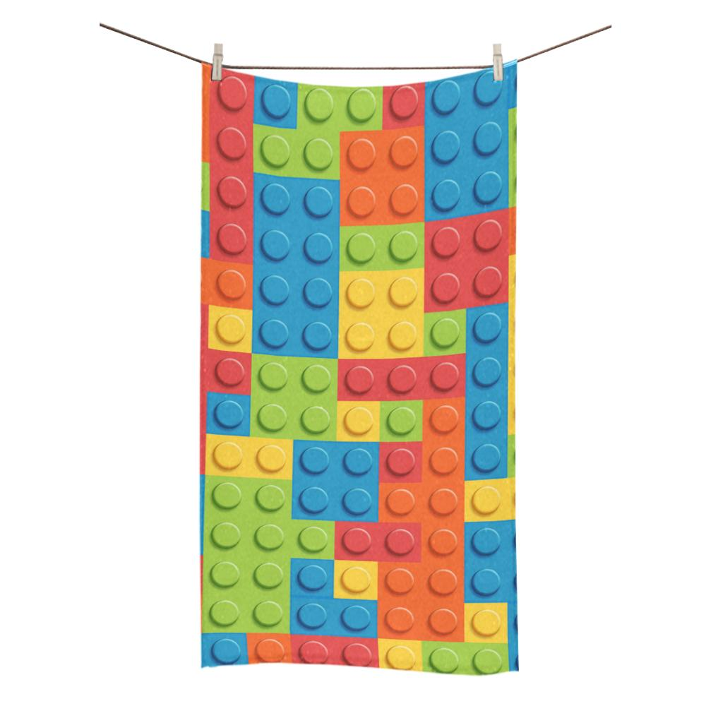 Lego Blocks Pattern Soft Bath Towel Brilliant White Wash Clo