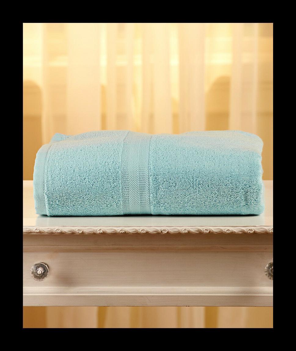 """LIGHT BLUE 100% Cotton HUGE OVERSIZED Bath Towels - 34"""" x 68"""