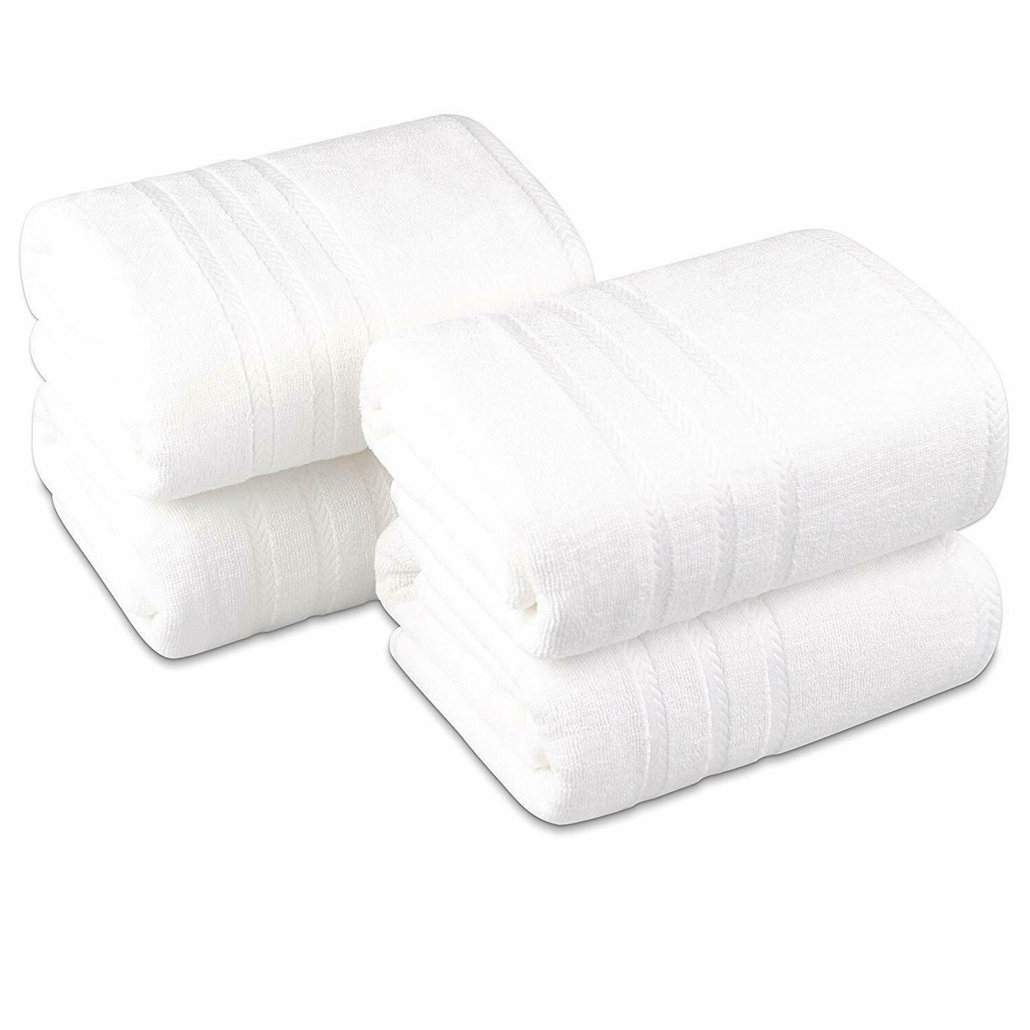 Luxury Egyptian Quality 100% Cotton Bath Towels 4 pieces in