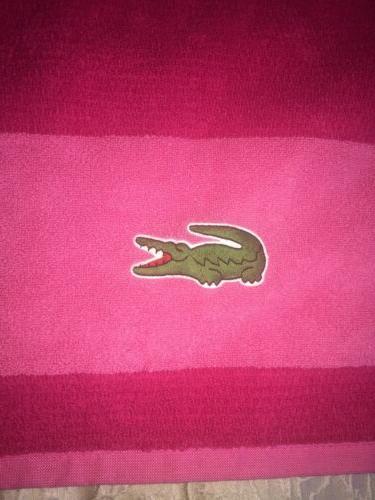 """Lacoste Cotton Bath Towel 30"""" x CROC"""