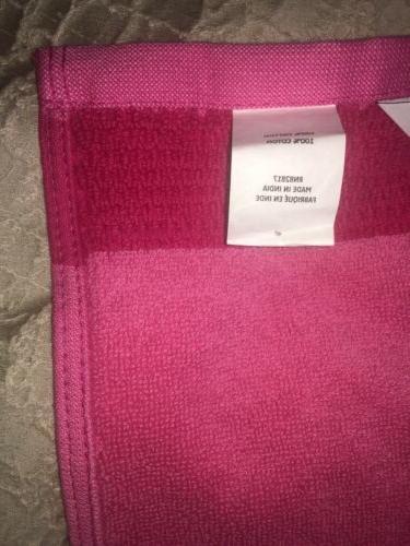 """Lacoste Match Cotton Bath Towel Magenta 30"""" x CROC"""