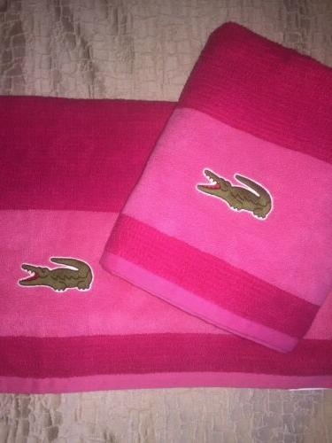 match cotton colorblocked bath towel pink magenta