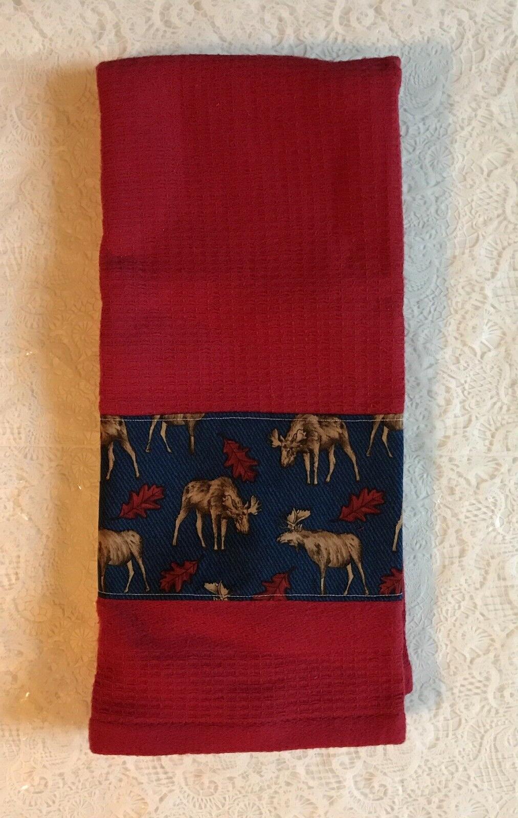 Nature wild animals - Moose - Kitchen bath home decor red to