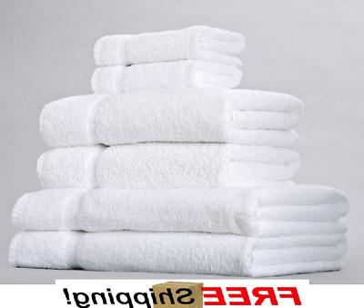 12 new white 100 percent cotton hotel