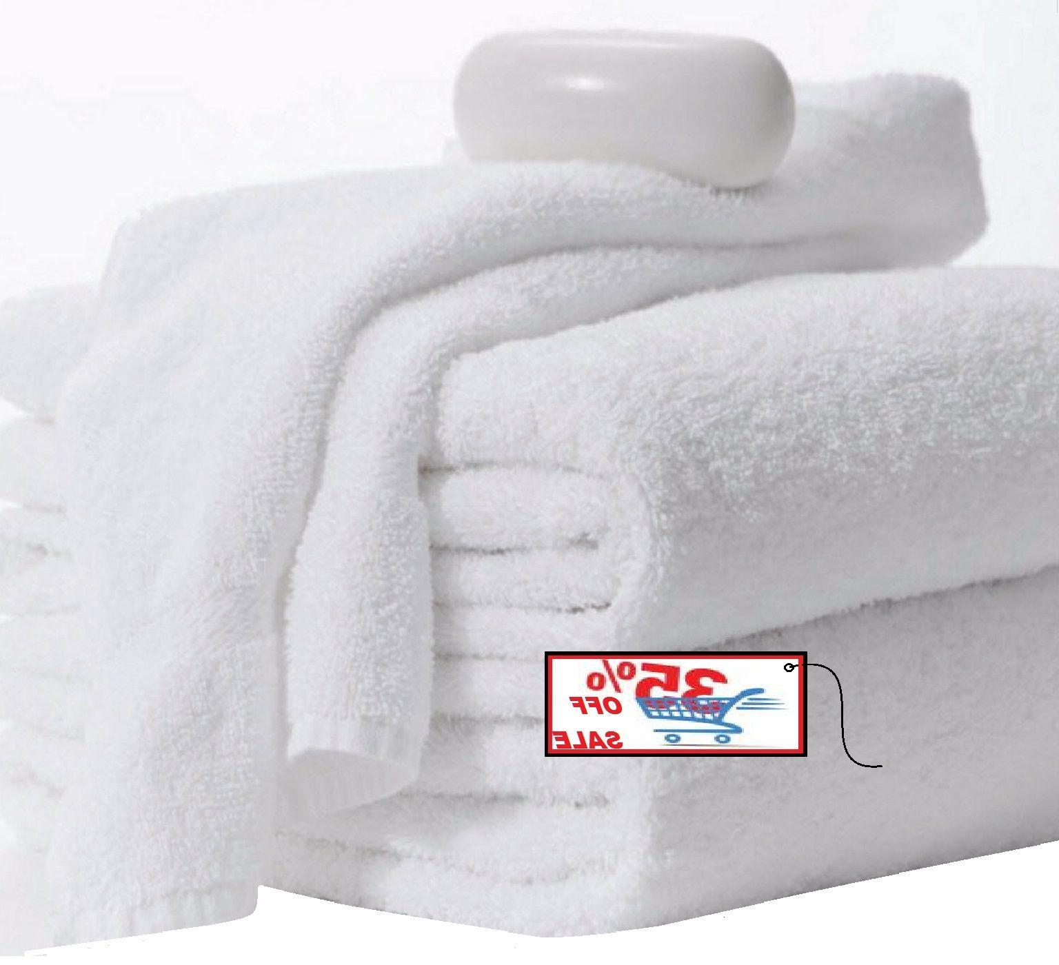 new bath towels 12 pack 24x50 inches white 11lbs 100% cotton