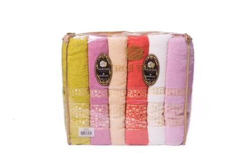 New Cotton Towels Set of 6 Large 70x140 Thick Soft Absorbent