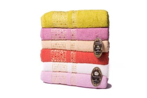 New Cotton Hand Towels Set Large 50x90 Thick Soft Plush Abso