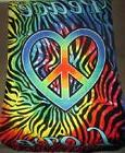 New Tie Dye Rainbow Zebra Stripes Heart Peace Love Bath Beac