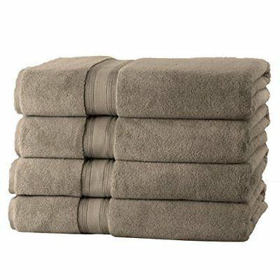 NEW Affinity Linens Twist Bath Towels 4-Pack - Taupe - Size: