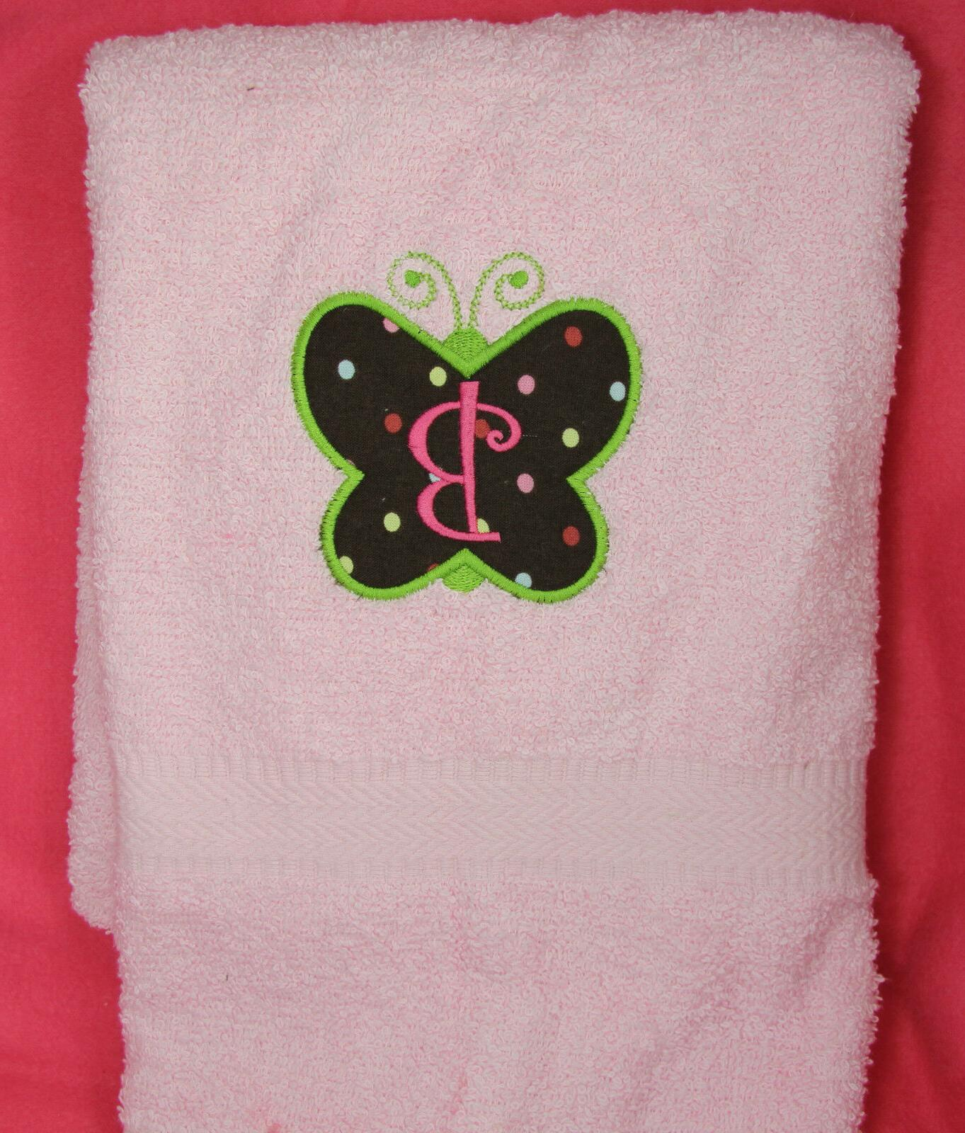 Personalized Embroidered Butterfly First Initial Applique Co