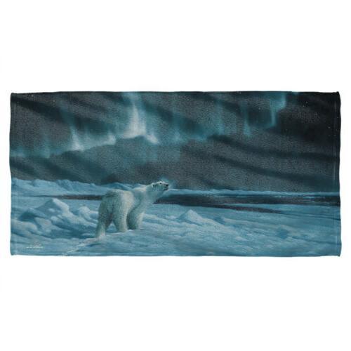 Wild Wings Polar Night Light 2 Licensed Beach Towel 60in by