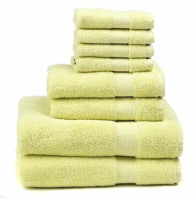 premium 100 percent cotton 8 piece towel