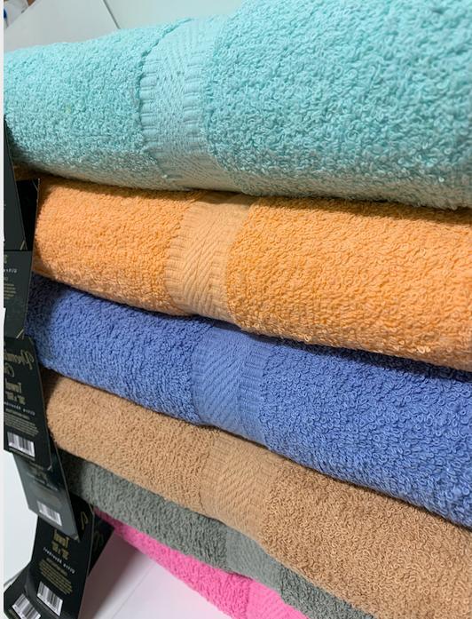 """SPRINGFIELD LINEN Towel/ Sheet Cotton 30"""" x 56"""",Set 6 Color"""