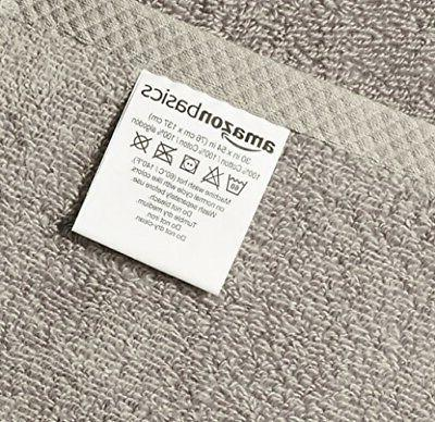 AmazonBasics Quick-Dry Towels - 100% Platinum