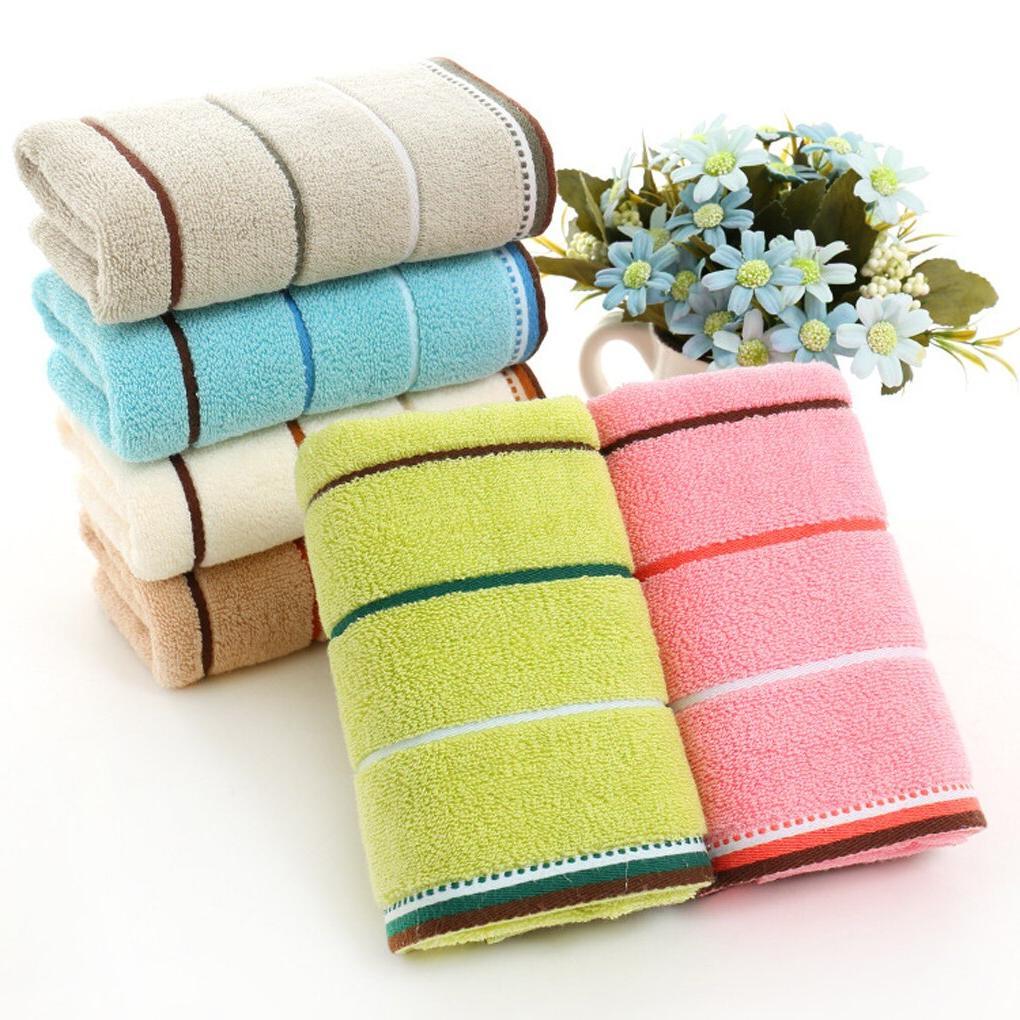 Quick Drying <font><b>Towel</b></font> Stripe Face Hand Cloth Bathroom Absorbent 35*75 /25*50cm