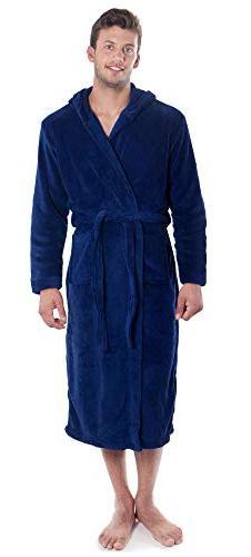 Verabella Robes for Women Flannel Hooded Bath Robes,2XL-3XL