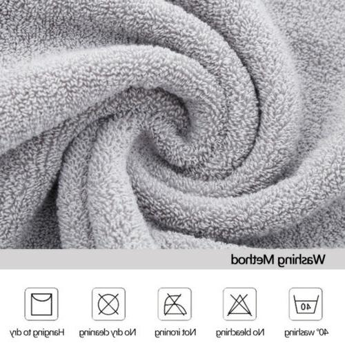 "Set of 1/2/4 Large Gym Spa Beach Towels 28x55"" Bathroom"
