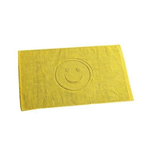 simle face pattern reversible towel