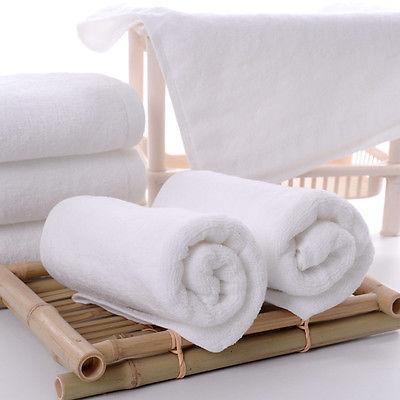 Soft Bath Towels Set Soft Plush Cotton Hotel Resort SPA Whit