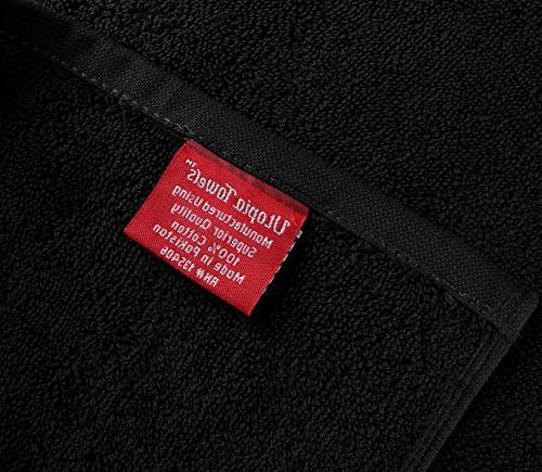 Utopia Machine Extra Large Bath Towel Luxury Sheet - Black
