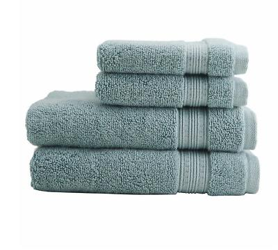 Charisma Solid Bath Hand Face Towel Set Sea Foam Green 6 pc.